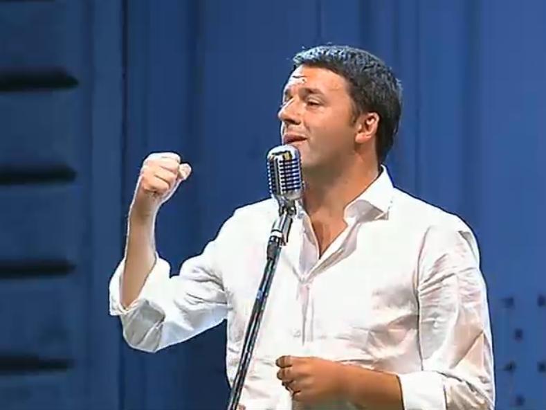 Matteo Renzi in una precedente edizione della Leopolda