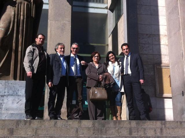 L'avvocato Pardo Cellini e Lauria Baldassare con Giuseppe Gulotta