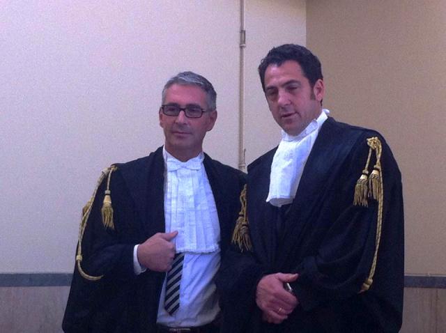 Gli avvocati Pardo Cellini e Baldassare Lauria