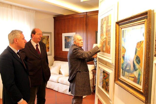 La mostra di Passani visitata dal sindaco Del Ghingaro