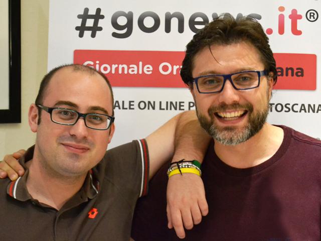 Daniele Dei, a sinistra, e Giacomo Cioni (foto gonews.it)