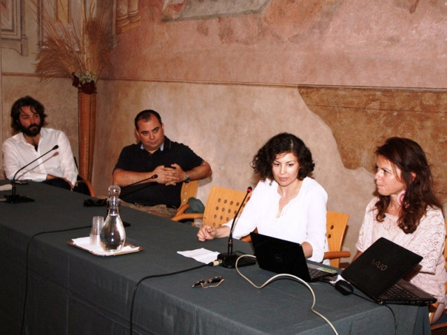 Da sx Antonio Ponzo, Simone Campinoti, Giada Minnuti, Anjeza Saliaj, Cristina Corradini