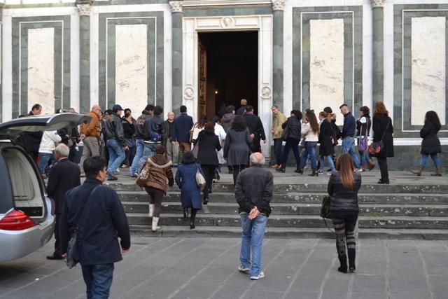 Funerali alla chiesa Collegiata di Empoli (foto di archivio)