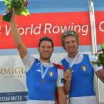 Fossi sul podio del Mondiali Assoluti di Amsterdam 2014 dove con Romano Battisti, suo compagno di barca a Rio de Janeiro, conquistò la medaglia d'argento nella specialità dove rappresenteranno l'Italia ai Giochi Olimpici (foto canottaggio.org)