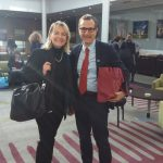 Patrizia Vezzosi con il Dott. Stefano Dominioni  Dir. Istituto Itinerari Culturali Europei