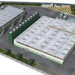 Rendering impianto Piombino smaltimento rifiuti organici