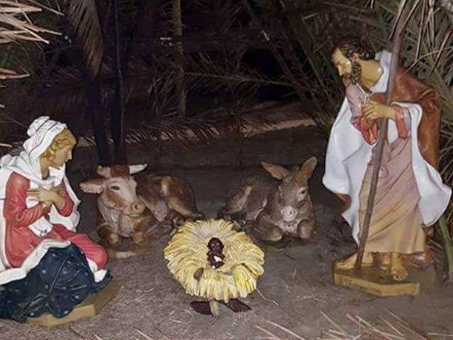 Il presepe di Viareggio prima del furto del Bambin Gesù nero